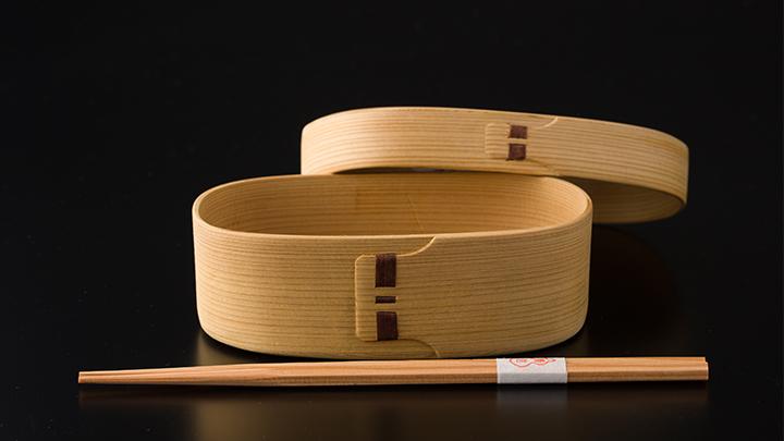 白木小判弁当(小)&六角杉箸