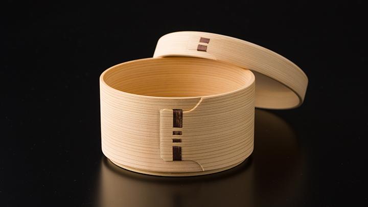 白木丸弁当箱&六角杉箸