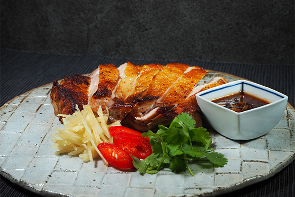 比内地鶏胸肉のレモングラス焼き