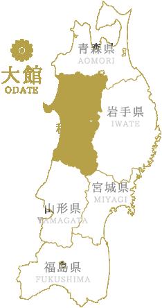 大館市地図イメージ